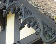 Carved scrollwork